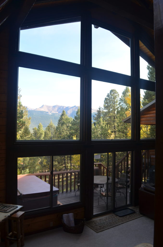 Look right out to Pikes Peak.
