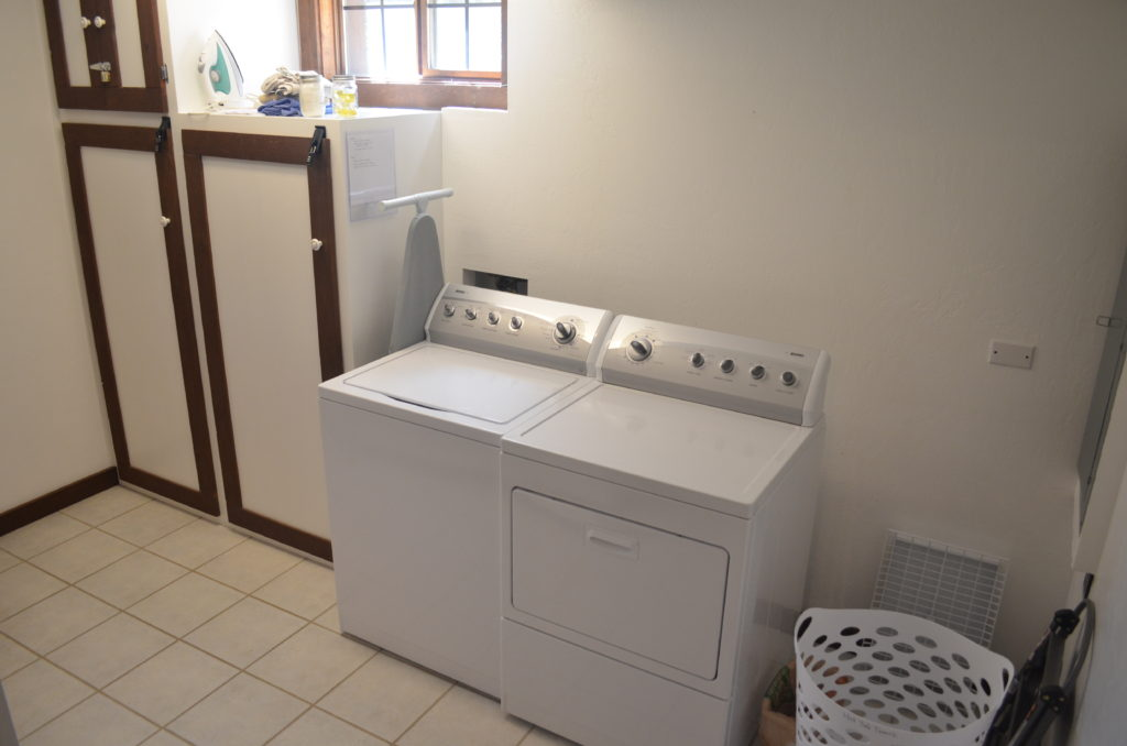 Full sized washer and dryer available.